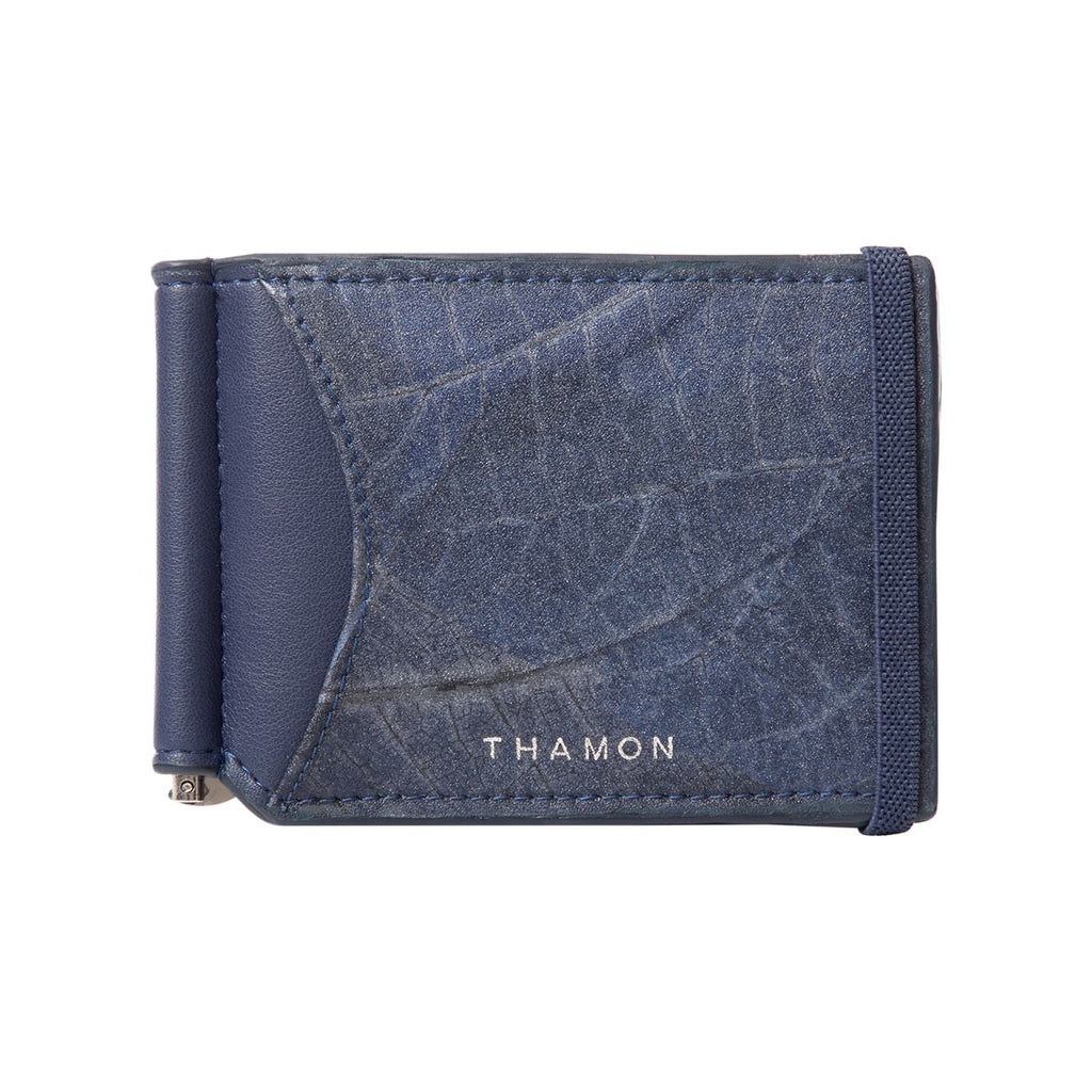 THAMON Alex Bi-fold Wallet with Money Clip 《Dark Blue》