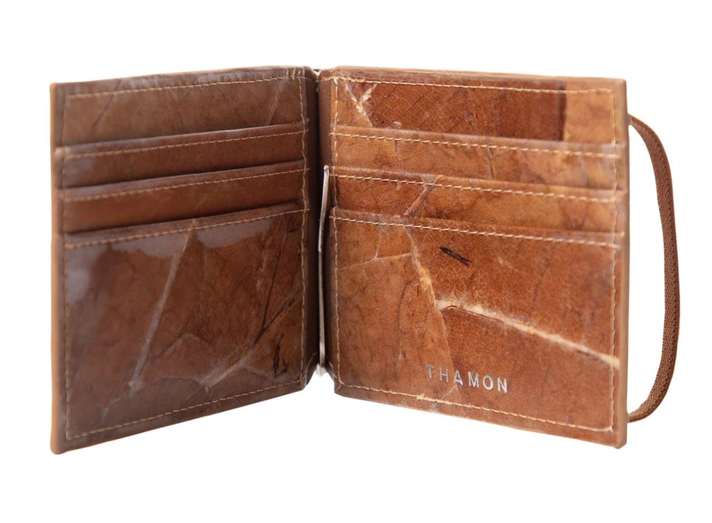 THAMON Alex Bi-fold Wallet with Money Clip 《Brown》