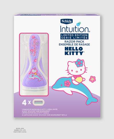 Schick® Intuition® Limited Edition Hello Kitty® Pure Nourishment Razor Handle & Refills (2020)