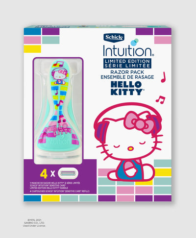 Schick® Intuition® Limited Edition Hello Kitty® Sensitive Care Razor Handle & Refills (2020)