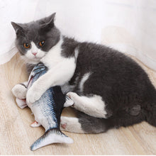 Load image into Gallery viewer, USB Rechargeable Self Moving Fish Cat Toy