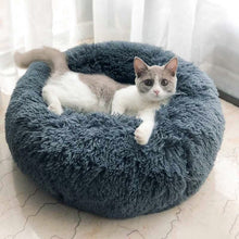 Load image into Gallery viewer, Round Winter Warm Soft Mat Pet Bed