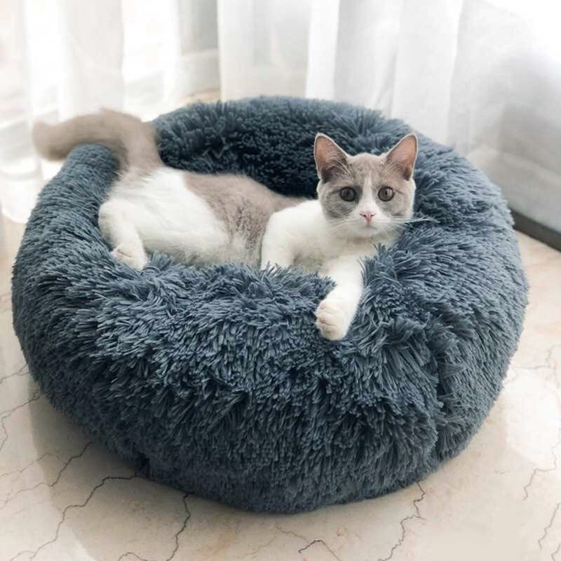 Round Winter Warm Soft Mat Pet Bed