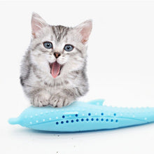 Load image into Gallery viewer, Soft Silicone Mint Cat Teeth Cleaning Toy Fish