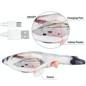 USB Rechargeable Self Moving Fish Cat Toy