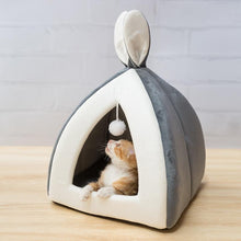 Load image into Gallery viewer, Cute Bunny Ear Cat Tent House - KittenLands