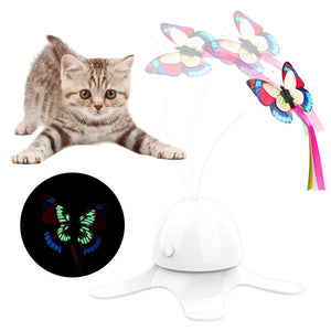 Interactive Fluttering Butterfly Cat Toy