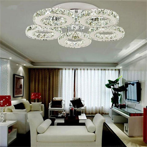 3/5 Rings Crystal LED Chandeliers Lighting - Your Chandelier