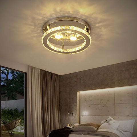 LED Crystal Chandelier Mirror Rings - Your Chandelier