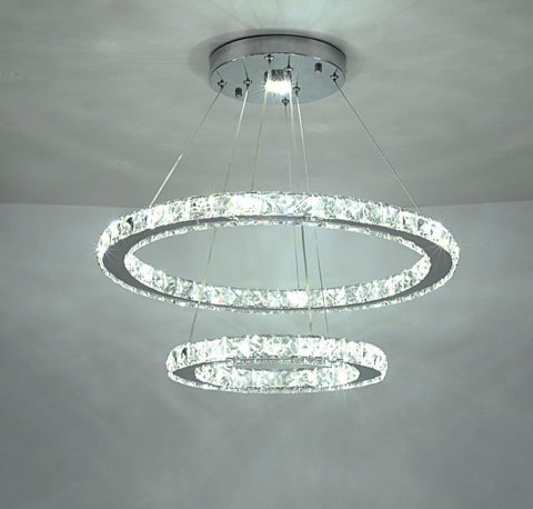 Modern Rings Led Crystal Chandelier - Your Chandelier