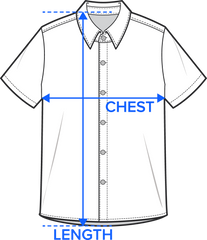 Short Sleeve Button-Ups Size Chart Image
