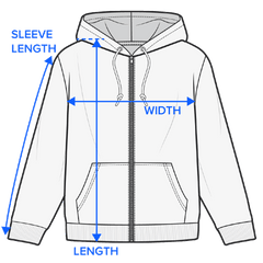 Fuzzy Hoodie Measurement Guide