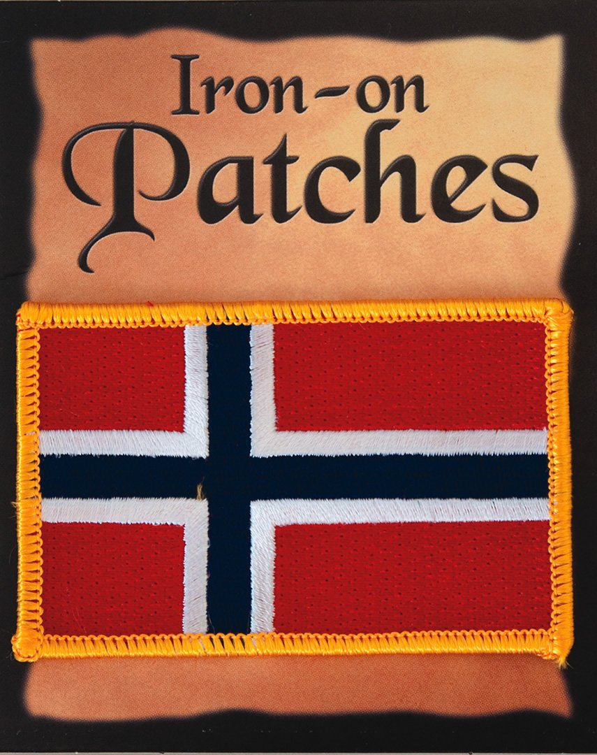 Norwegian Flag Iron-On Patch Default Title