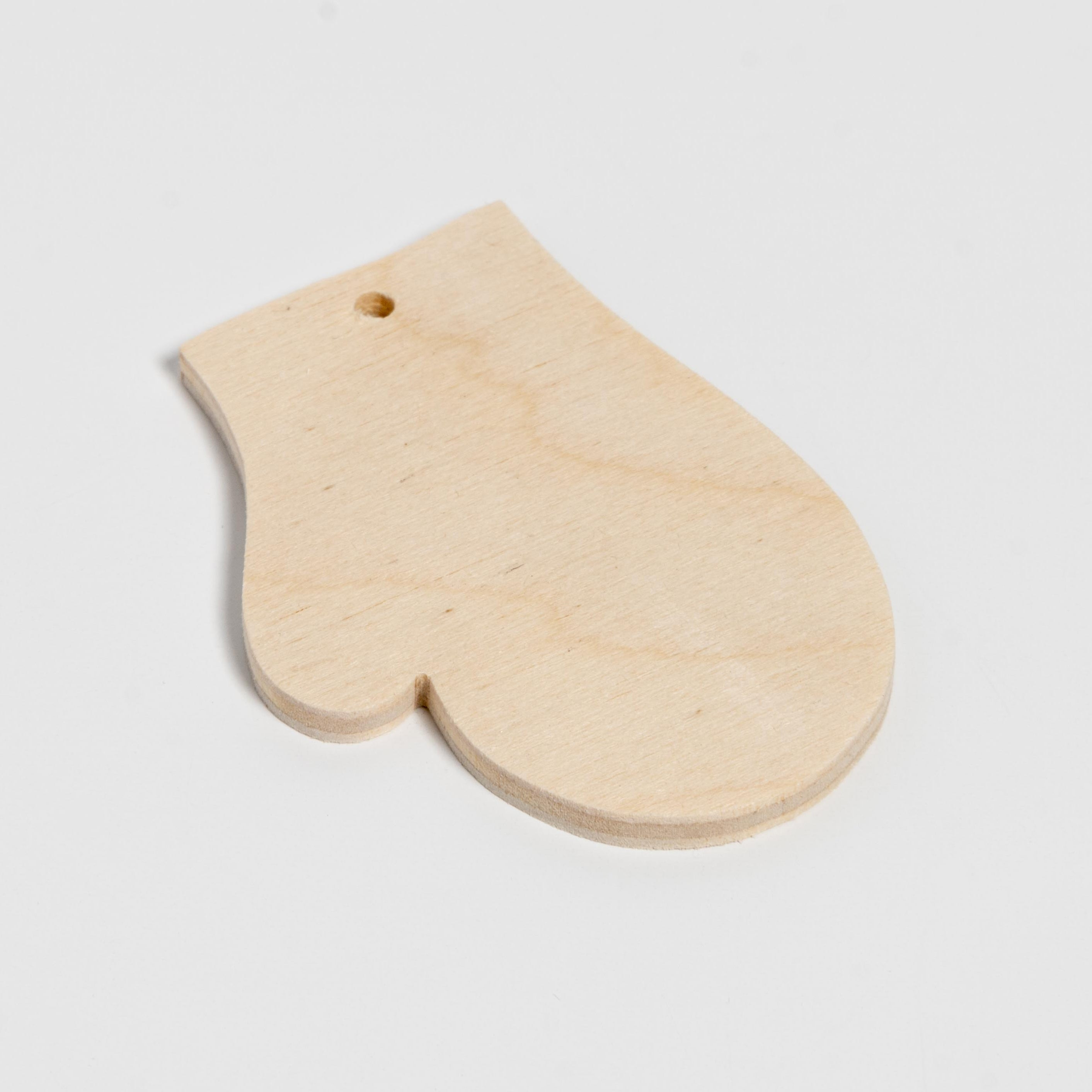Small Mitten Wooden Ornament Default Title
