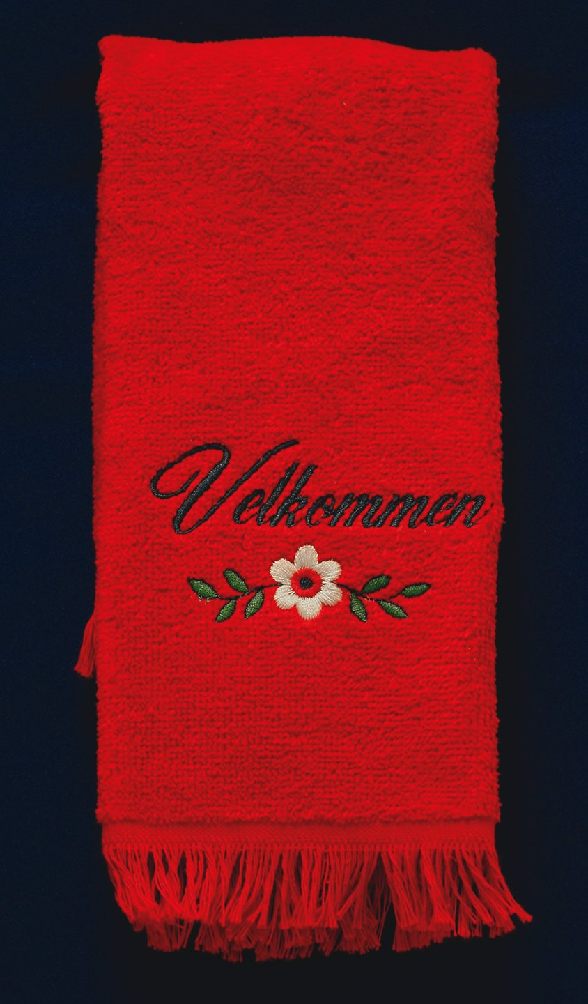 Velkommen and Flower Hand Towel Default Title