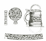 Amrud Acanthus Carving Pattern # 45- Lite Krus (Small Stein) Default Title