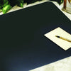 "Artistic 1219LE 12"" x 19"" Leather Desk Pad  Coaster Black"