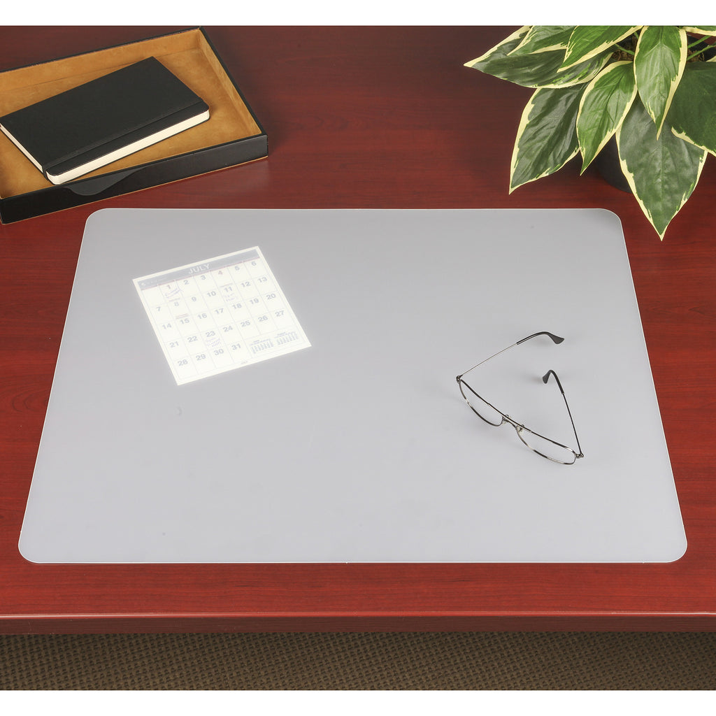 70 6 0 20 X 36 Eco Clear Desk Pad With Exclusive Microban Antimicrobial Protection Frosted