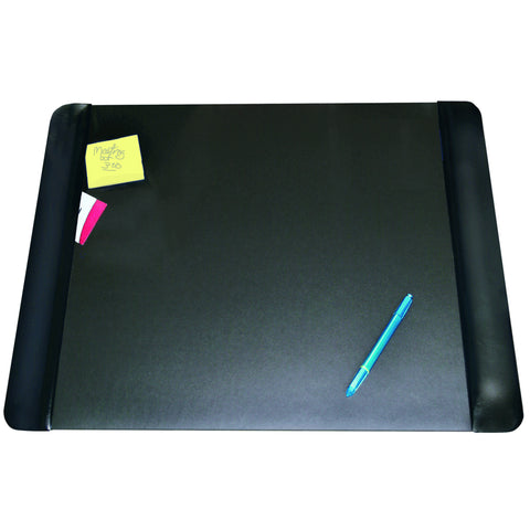 "4138-4-1 19"" x 24"" Executive Desk Pad with Antimicrobial Product Protection, Black"