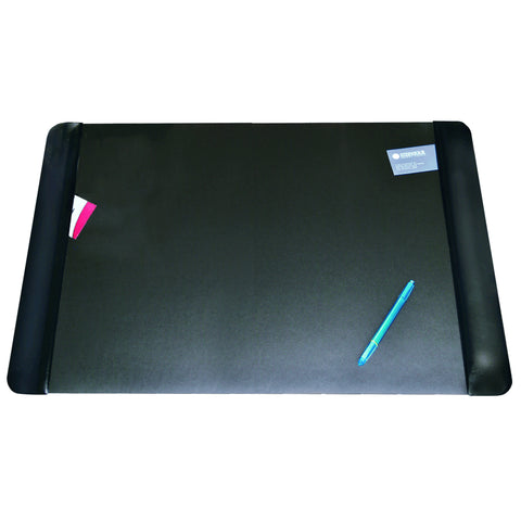 "4138-6-1 Executive Desk Pad 20"" x 36"" with Antimicrobial  Product Protection, Black"