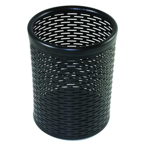 ART20005 Urban Collection Punched Metal Pencil Cup, Black