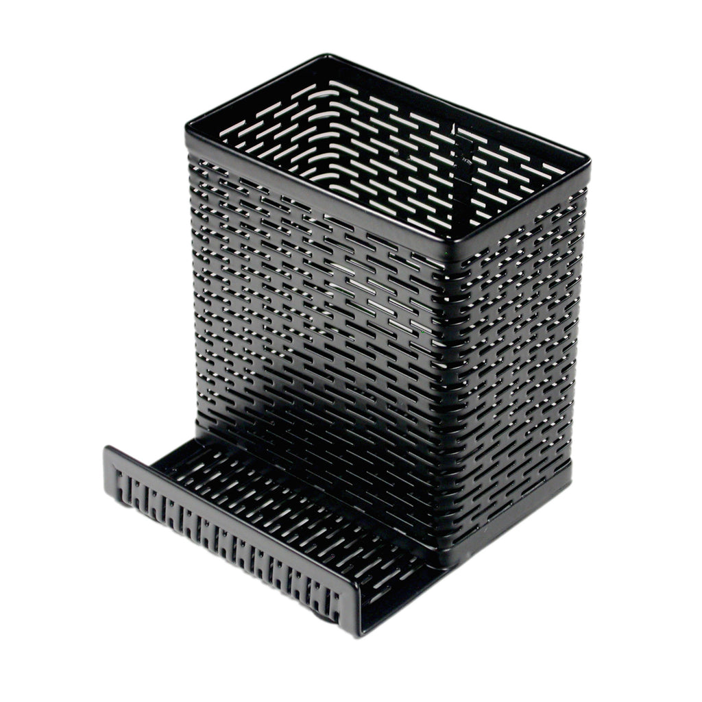 Punched Metal Pencil Cup with Cell Stand