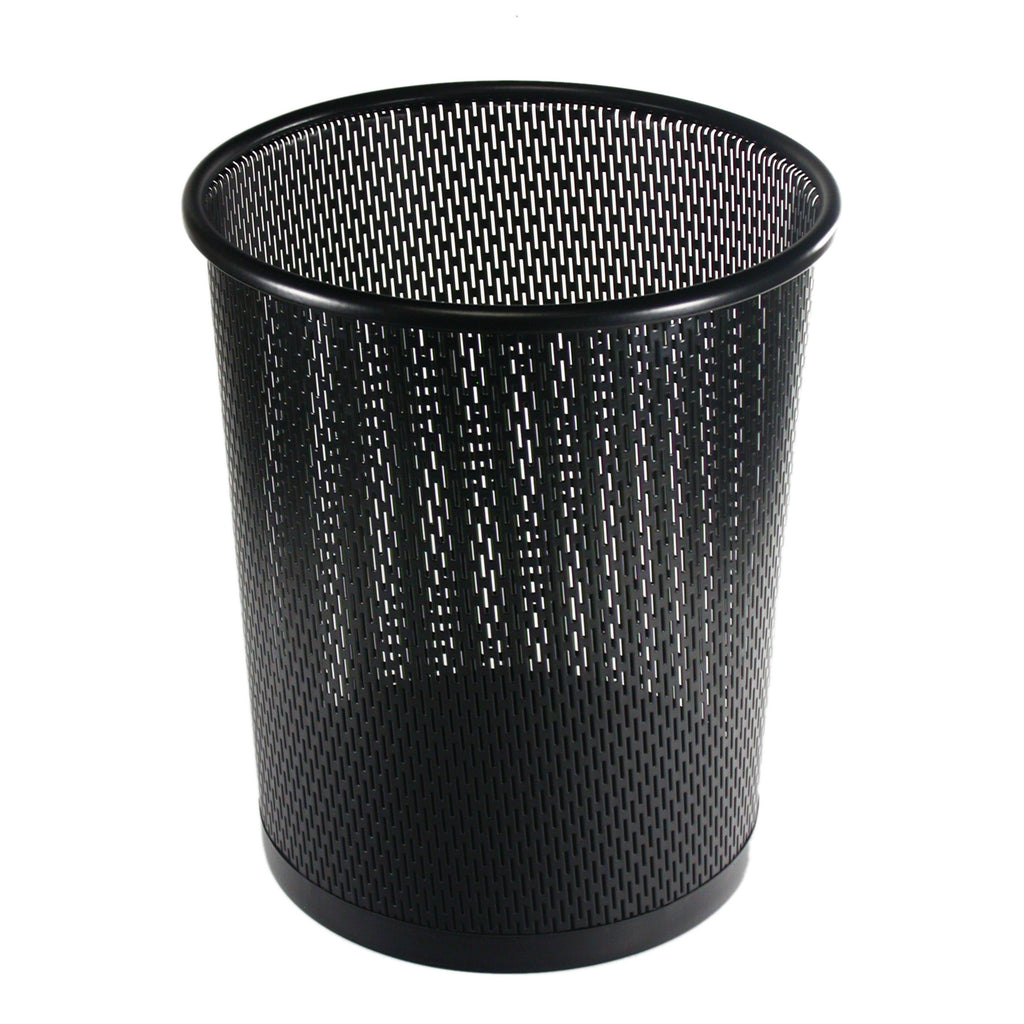 Punched Metal Business Wastebin Garbage Can