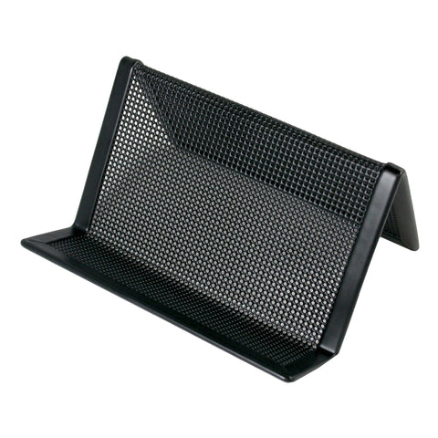 ART21001C Contemporary Mesh Metal Business Card and Accessory Holder, Black