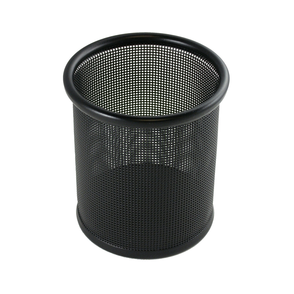 Contemporary Mesh Metal Pen and Pencil Cup Holder