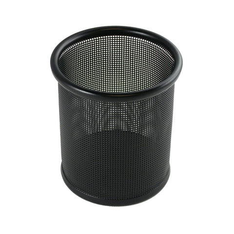 ART21005C Contemporary Mesh Metal Pen and Pencil Cup Holder, Black