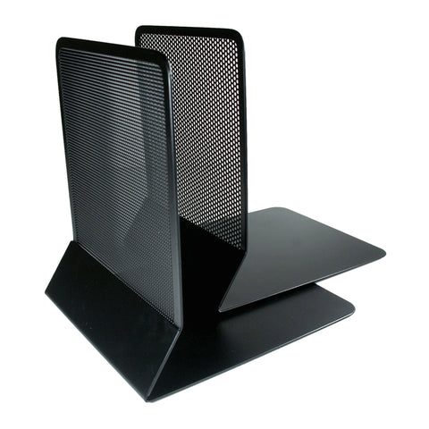ART21008C Contemporary Mesh Metal Bookends, Black