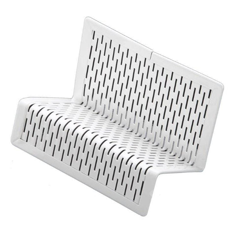 ART20001WH Urban Collection Punched Metal Business Card Holder, White