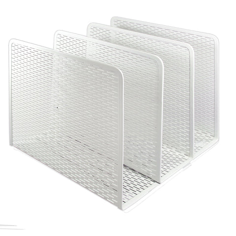 ART20009WH Urban Collection Punched Metal File Sorter, White