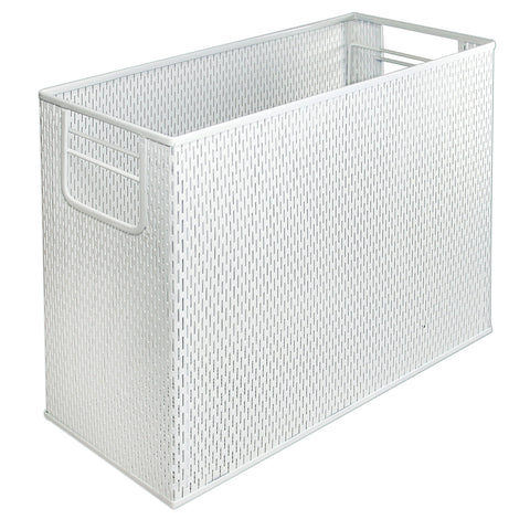 ART20010WH Urban Collection Punched Metal Desktop File, White