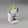 Artistic ART20014WH Urban Collection Punched Metal Pencil Cup Cell Stand White