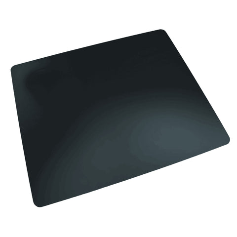 "LT91-2M 12"" x 17"" Rhinolin II Ultra-Smooth Writing Pad Desk Mat with Antimicrobial Product Protection, Black"