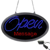 LED Open Sign with WIFI Programmable Red Scrolling Message