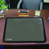 "Artistic 41200 20"" x 31"" Logo Pad Lift-top Desktop Organizer Desk Mat Black/Clear"