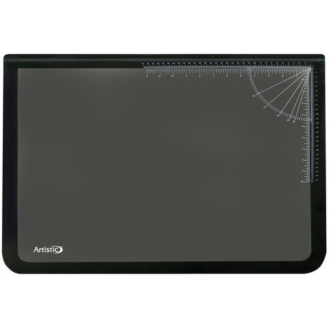 "41200 20"" x 31"" Logo Pad™ Lift-top Desktop Organizer Desk Mat, Black/Clear"