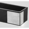 Artistic ART43001 Architect Line Leather-Like Business Card Holder Black Brushed Metal Matching Black Stitching and Velvet-Like Lining