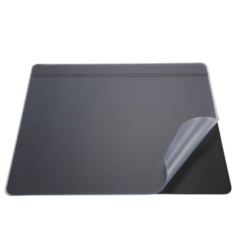 "48173 Krystal-Lift™ Non-Glare Desk Pad Organizer 20"" x 31"", Black/Frosted"