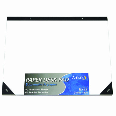"50010 17"" x 22"" Plain Paper Drawing & Note Desk Pad, White Paper"