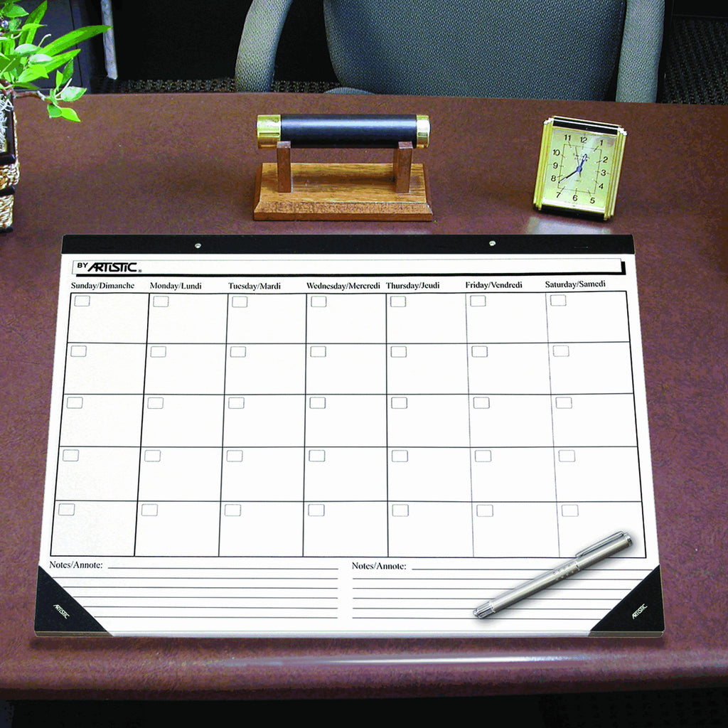 Weekly Calendar Desk Pad : Artistic office products quot