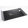 "Artistic 5240-BG Monticello Desk Pad 24"" x 19"" Black  Grey Accents"