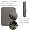 "Artistic ART500WP3 Techie Wallet II Folio 5000mAh Power Bank iPad/Tablet Holder Not designediPads/Tablets larger than 10""  Grey"