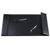 "Artistic ART61026C 20"" x 36"" Woven Desk Pad Smooth Writing Surface and Woven Side Panel Accents Right Side Magnetic Open/Close Panel Black"