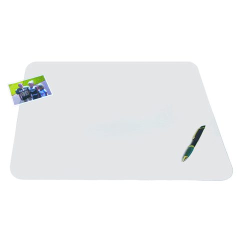 "60740M 12"" x 17"" Krystal View™ Non-Glare Antimicrobial Desk Pad Organizer with Exclusive Microban® Antimicrobial Protection, Frosted"
