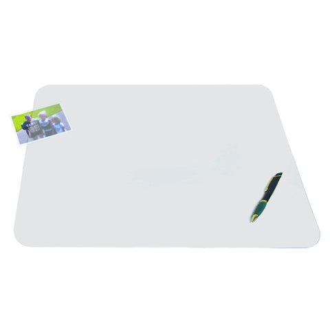 "60240M 17"" x 22"" Krystal View™ Non-Glare Antimicrobial Desk Pad Organizer with Exclusive Microban® Antimicrobial Protection, Frosted"