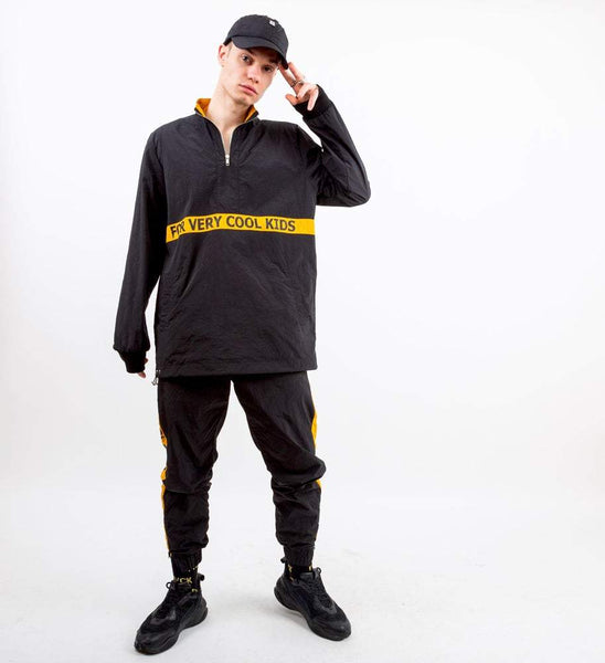 HEY YO TRACKSUIT  - fvck - ForVeryCoolKids - noir - jogging jaune