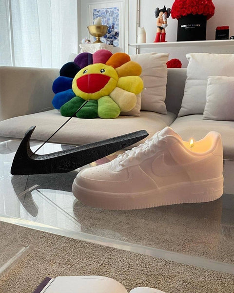 bougie Nike Air Force - sneakers candle - candles - Nike Air Force - nike candle - lifestyle - home décoration - streetwear